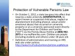 protection of vulnerable persons law