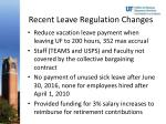 recent leave regulation changes