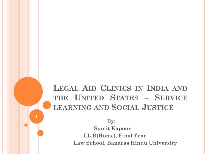 legal aid clinics in india and the united states service learning and social justice n.