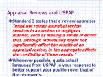 appraisal reviews and uspap