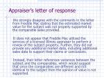appraiser s letter of response
