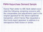 fnma repurchase demand sample