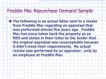 freddie mac repurchase demand sample