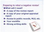 preparing to rebut a negative review