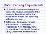 state licensing requirements1
