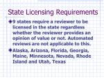 state licensing requirements2