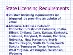 state licensing requirements3