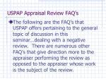 uspap appraisal review faq s