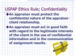 uspap ethics rule confidentiality