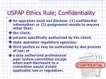 uspap ethics rule confidentiality1