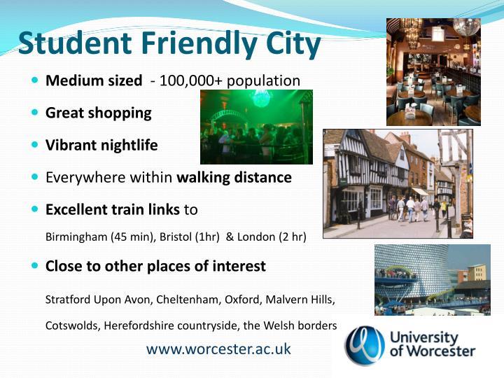 Student Friendly City