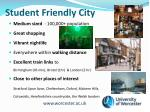 student friendly city