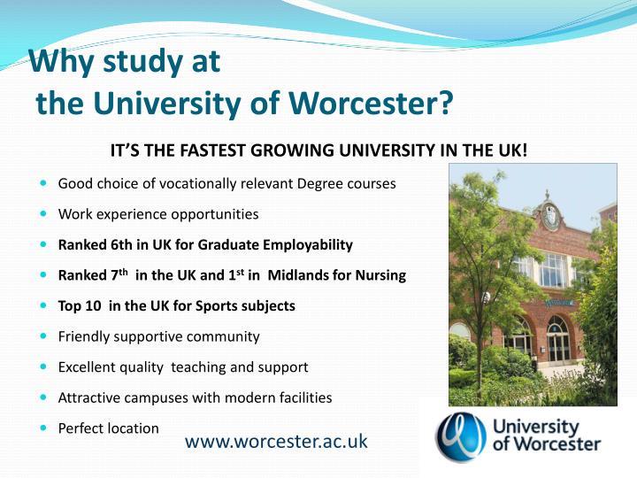 Why study at