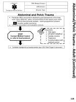 abdominal pelvic trauma adult continued