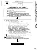 abdominal pelvic trauma adult