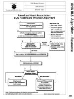 aha bls algorithm resource