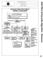 aha pals tachycardia algorithm resource