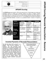 apgar scoring neonatal resuscitation resource