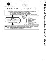 cold related emergencies adult continued