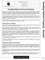 handling patient s property general
