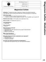 magnesium sulfate medications
