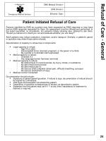 refusal of care general
