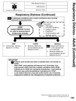 respiratory distress adult continued