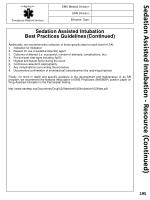 sedation assisted intubation resource continued