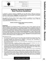 sedation assisted intubation resource