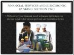 financial services and electronic banking section two1
