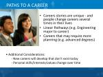 paths to a career