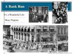 a bank run