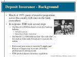 deposit insurance background