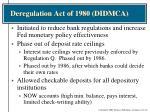 deregulation act of 1980 didmca