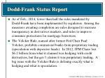 dodd frank status report