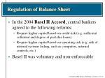 regulation of balance sheet1