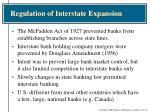 regulation of interstate expansion