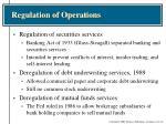 regulation of operations