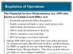 regulation of operations1