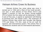 vietnam airlines grows its business