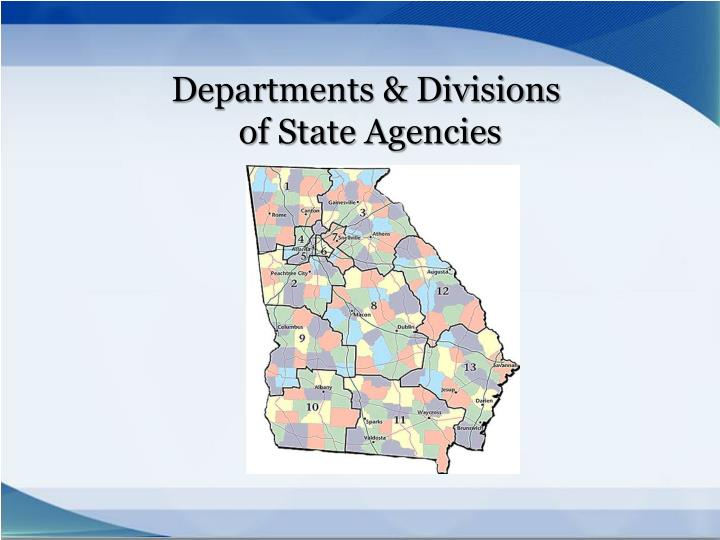 Departments & Divisions