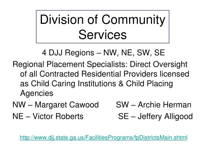Division of Community Services