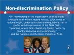 non discrimination policy