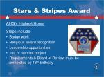 stars stripes award