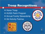 troop recognitions