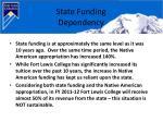 state funding dependency