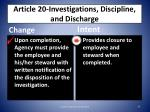 article 20 investigations discipline and discharge2