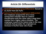 article 26 differentials