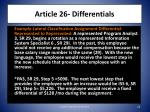 article 26 differentials1