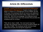 article 26 differentials2